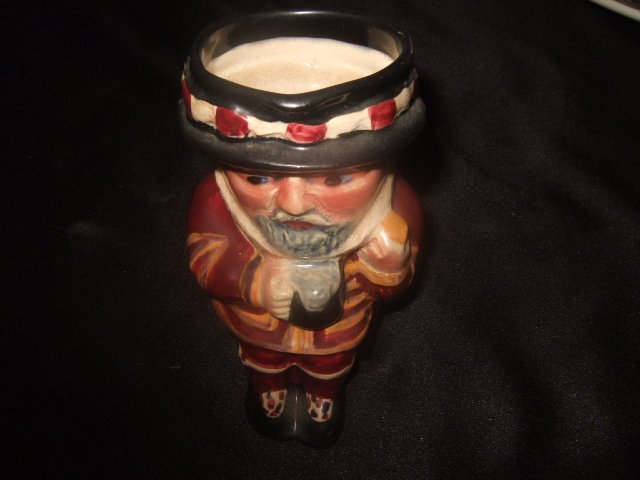 "Staffordshire ""Beefeater"" Toby Mug 5 Inches Tall"