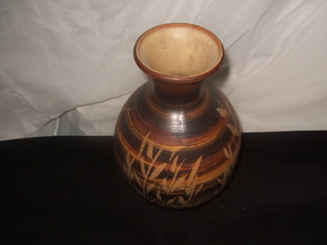 Pacific Stoneware 1972 Indian Style Vase Signed B. Welsh