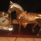 Old United Brass Horse Clock Works!