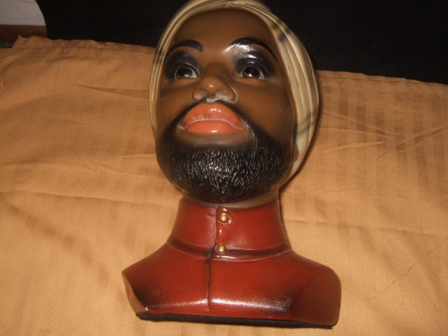 Large Detailed African/Arab Bust With Turban
