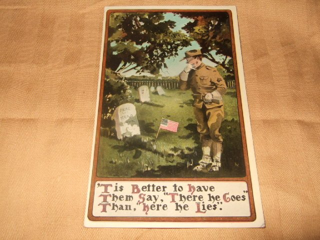 """Tis Better To Have Them Say Army Postcard from 1910'S"