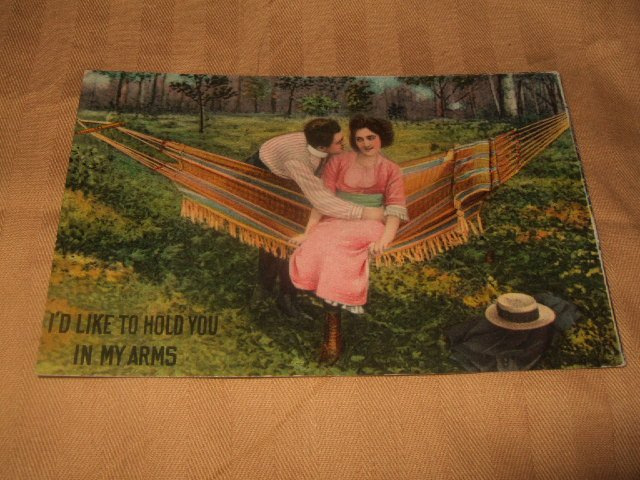 I'd Like To Hold You In My Arms Hammock Series 213 Postcard From 1910's