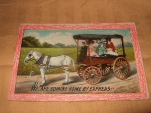 We Are Coming Home By Express USA Postcard 1910's?