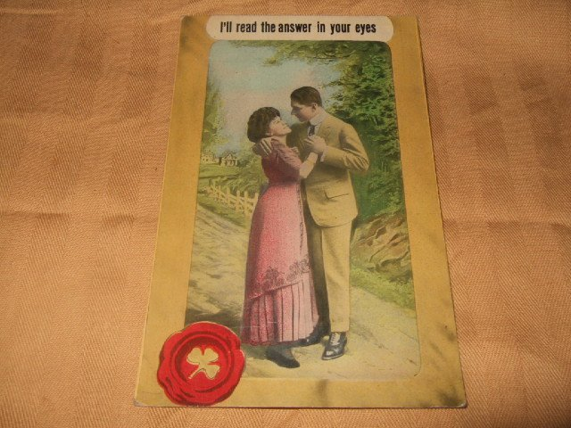 I'll Read The Answer In Your Eyes 1910's Postcard