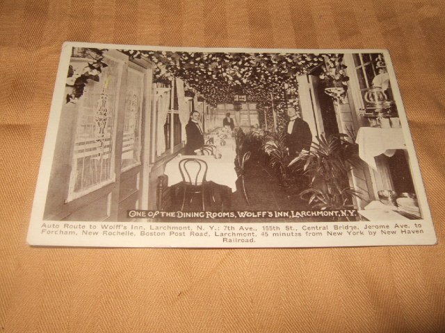 Black And White Wolf's Inn Larchmont, NY Postcard 1920's?