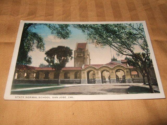 State Normal School San Jose, Cal. 1910's-1920's Postcard
