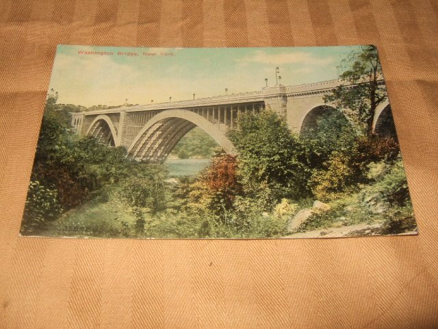 Washington Bridge, New York Postcard 1910's-1920's