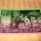 I'll Always Be True To You Unusual Two Tone Postcard 1910's