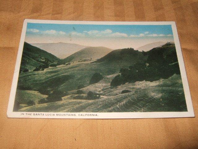 Santa Lucia Mountains One Cent Postcard 1920's?