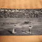 Black And White Bull Fight Mexico City 1920's? Postcard