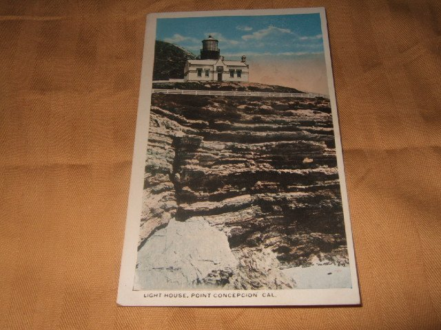Light House Point Concepcion, Cal. 1920's? One Cent Postcard
