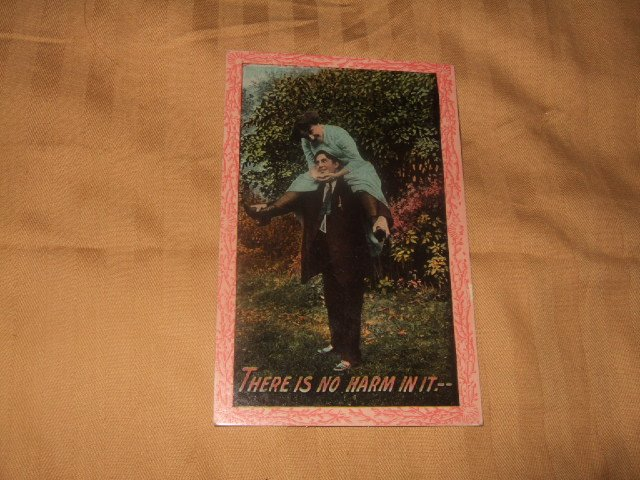 There Is No Harm In It 1910's Postcard