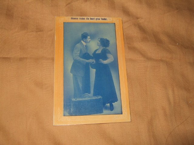 Absence Makes The Heart Grow Fonder 1910's Postcard