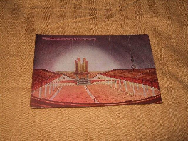 Mormon Tabernacle, Salt Lake City, Utah 1920's? Postcard