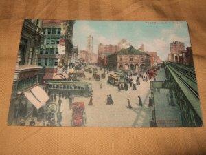 Herald Square, New York City 1910's Postcard One Cent