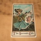 The Souvenir Girl 1910's Postcard