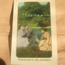 Someone Has To Play Gooseberry 1910's Postcard
