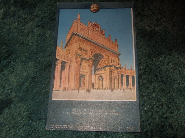 1912 Panama-Pacific Exposition Arch Of The Rising Sun Postcard #2