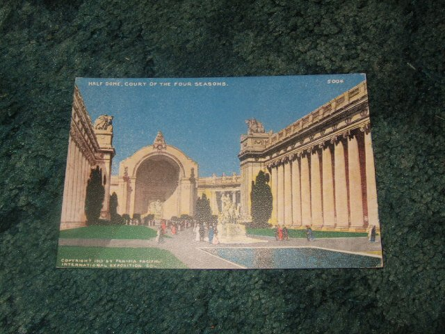 Half Dome Court Of The Four Seasons 1913 Panama Pacific Postcard #2