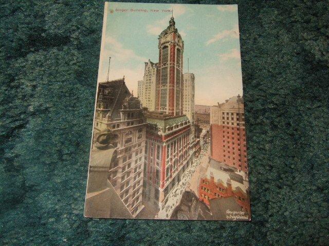 Singer Building, New York 1909 Postcard