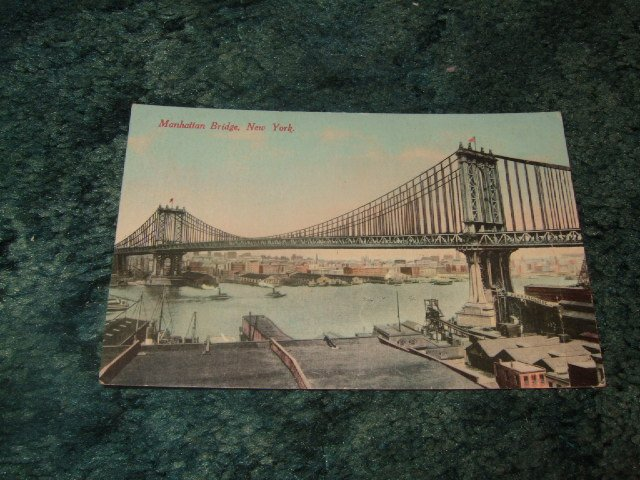 Manhattan Bridge, New York 1910's Postcard