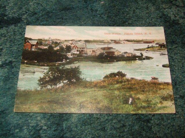 Great Harbor, Fishers Island NY 1910'S Postcard