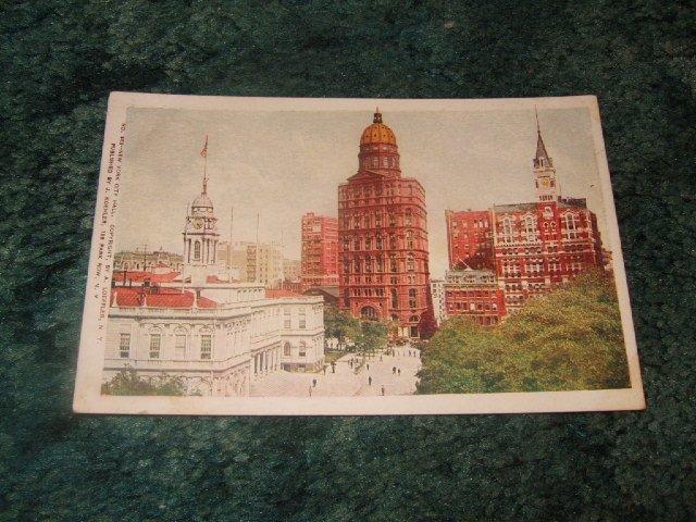 #553 New York City Hall 1910's Postcard J. Koehler