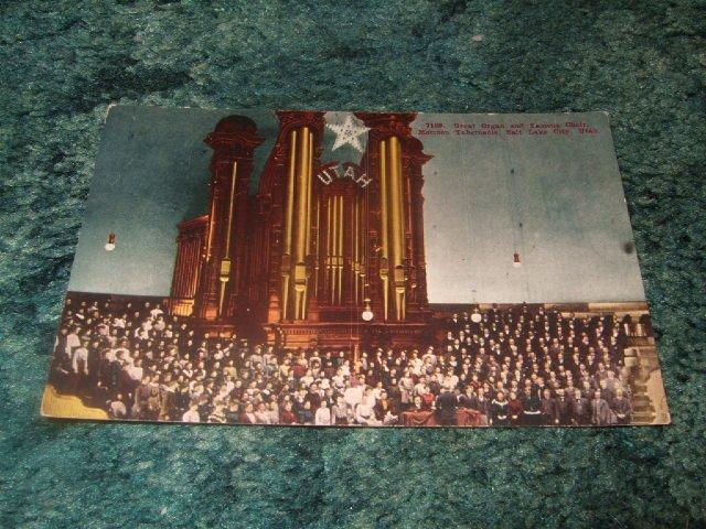 Mormon Tabernacle Great Organ/Choir 1910's Postcard