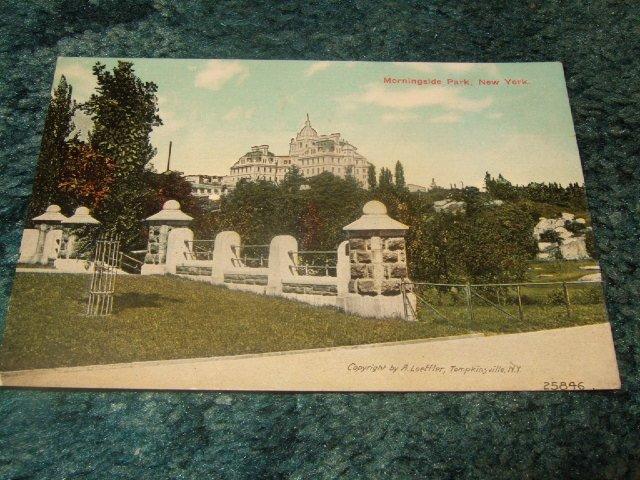 Morningside Park, New York #25846 A.Loeffler 1910's Postcard