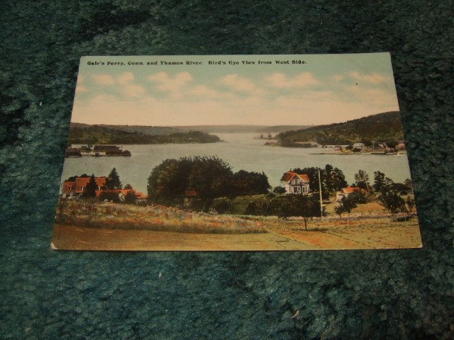 Gale's Ferry, Connecticut And Thames River Hugh C. Leighton 1910's Postcard