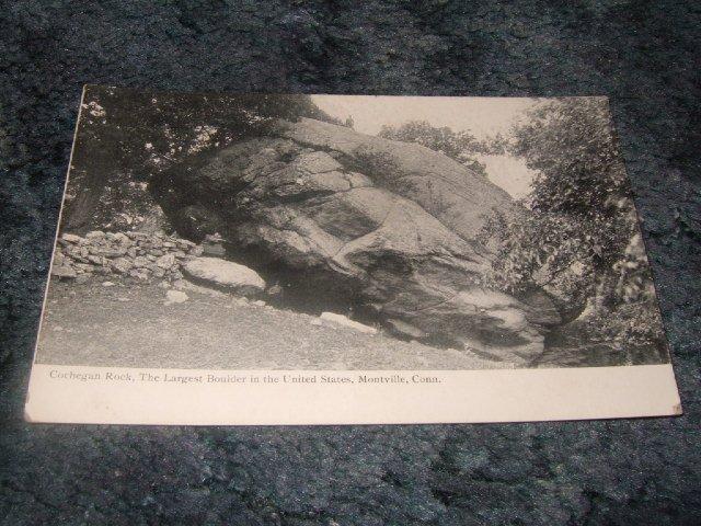 Cochegan Rock, Montville Connecticut Black And White Postcard 1910's?