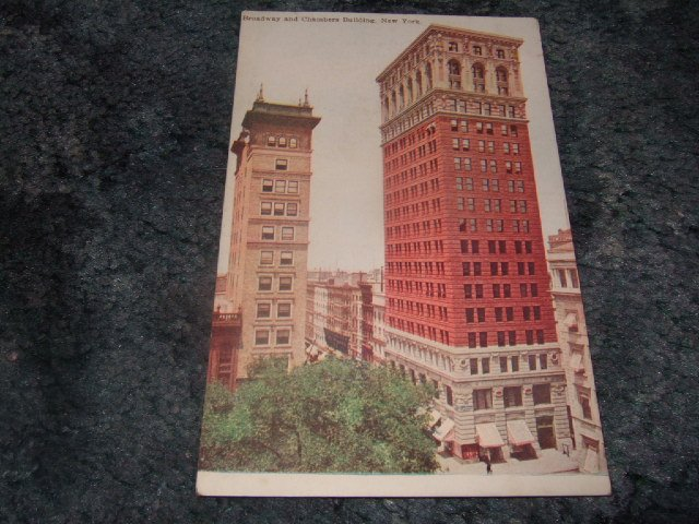 Broadway And Chambers Building, New York 1910's Postcard