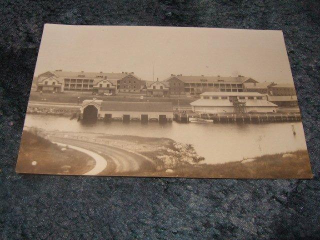 Black And White Buildings/River Scene Postcard 1910's?
