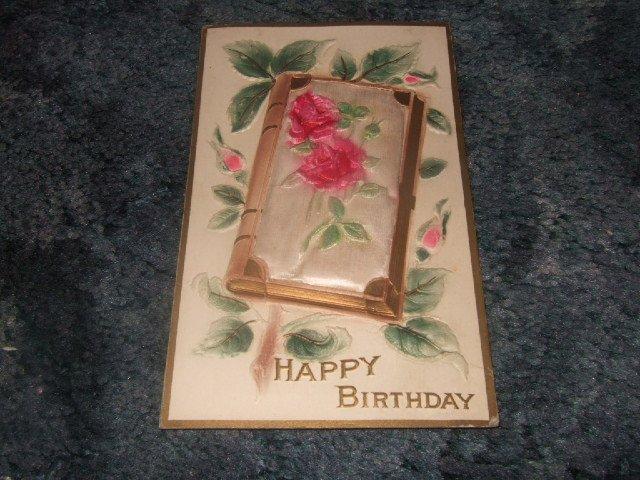 Happy Birthday Postcard 1910's Postally Unused