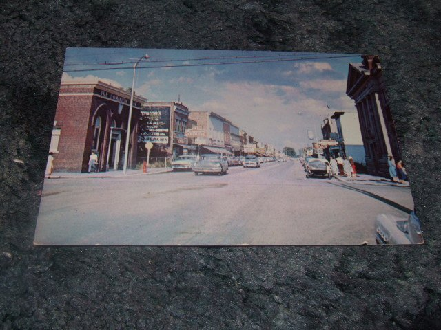 1950's Fort Francis Ontario Canada Downtown Scene Postcard