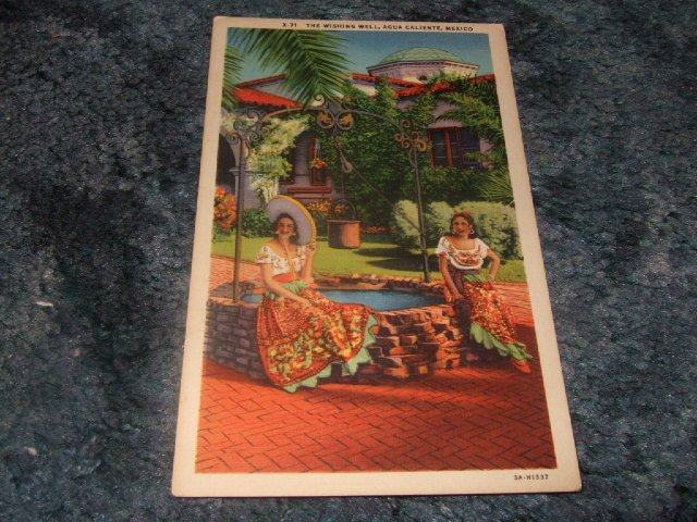The Wishing Well Agua Caliente Mexico Postcard One Cent
