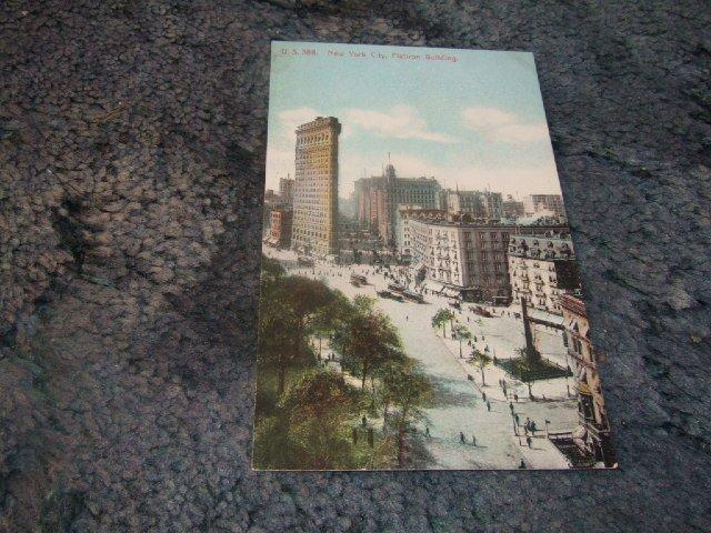 Flatiron Building, New York City 1910's Postcard