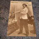 "Isn't This A ""Stropping"" Boy! 1910's Postcard"