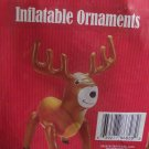"CHRISTMAS DECORATION INFLATABLE PARTY SUPPLY XMAS REINDEER 20.5"" X17.5"" NIB"
