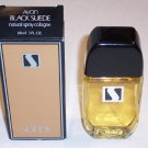 Vintage Avon Black Suede Natural Spray Cologne in Box