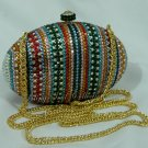 MULTICOLOR EGG SWAROVSKI CRYSTAL EVENING BAG