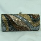 VINTAGE SCROLL SWAROVSKI CRYSTAL EVENING BAG