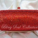 Red Secret Scroll Crystal Purse