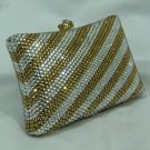Silver Gold Pillow Crystal Bag