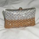 Silver Golden Pillow Crystal Purse