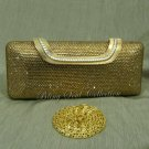 Long Gold Crystal Evening Bag