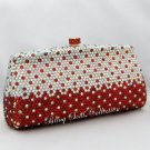 Red and Silver Crystal Party Bag