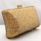 Classic Gold Pillow Crystal Clutch Purse