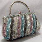 Light Multi Wave Pearl Clutch Bag