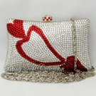 Heart in Pillow Crystal Clutch Bag